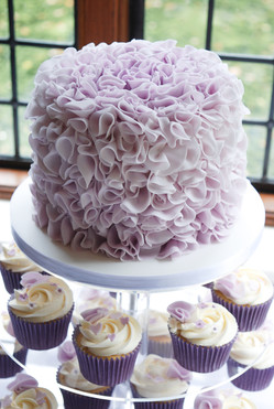 Lilac Ruffles with Cupcake Tower
