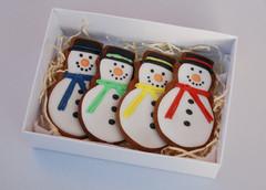 Four Snowman gift box
