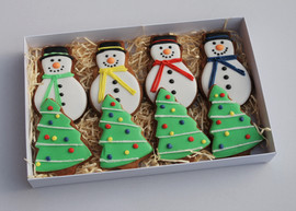 Eight Biscuit Christmas gift box