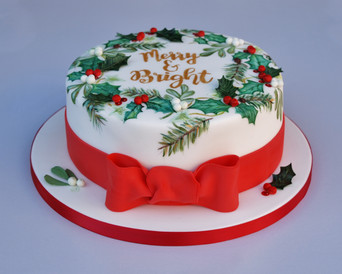 Merry & Bright Christmas cake