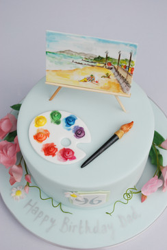 Painting Inspired cake