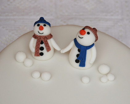 Happy Snowmen Christmas cake