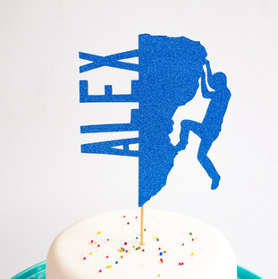 Climbing Themed cake topper