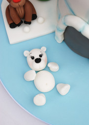 Igloo Christmas cake