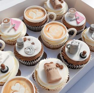 Coffee themed cupcakes