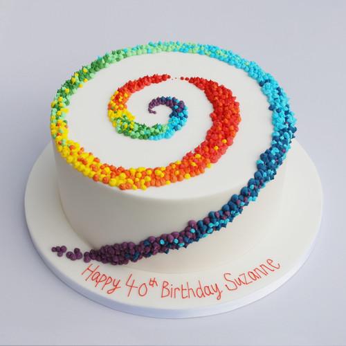 Rainbow Spiral Cake