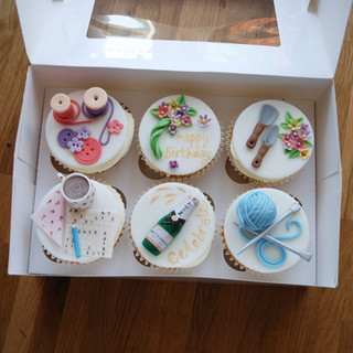 Personalised birthday cupcakes