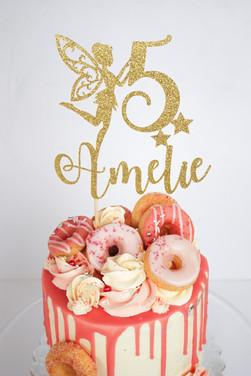 Pink Doughnut Drip cake