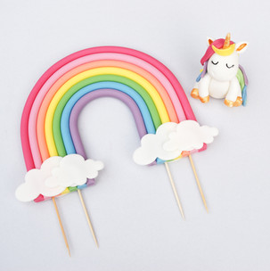 Rainbow and Unicorn topper