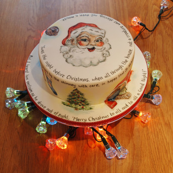 Hand Painted Christmas cake