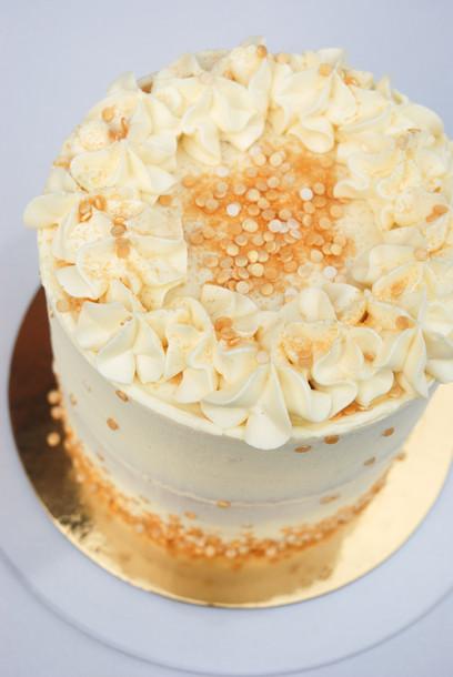 White & Gold Buttercream