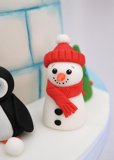 Igloo Christmas cake