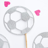 Football cupcake toppers
