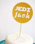 Jedi Name cake topper