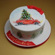 Vintage Style Christmas cake
