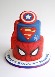 Marvel Vs DC cake