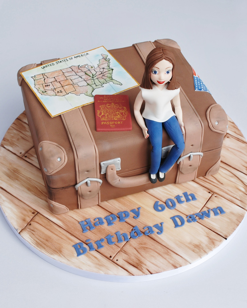 Travel Themed Cake