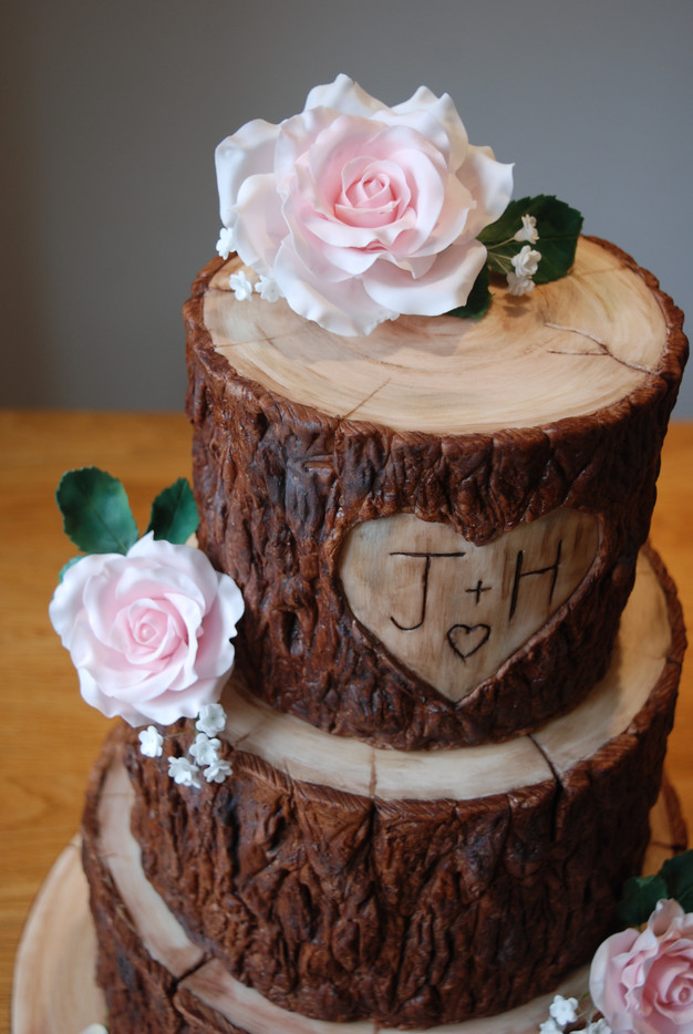 Stacked Log Wedding Cake
