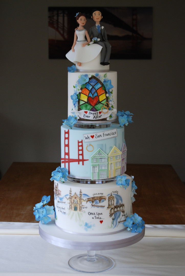 Wedding Show Love Story Cake