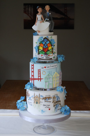 Wedding Show Love Story Cake