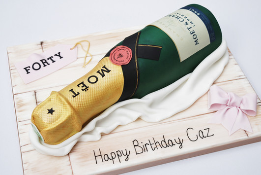 Moet Champagne cake