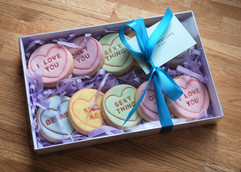 Gift Boxed Love Heart Cookies