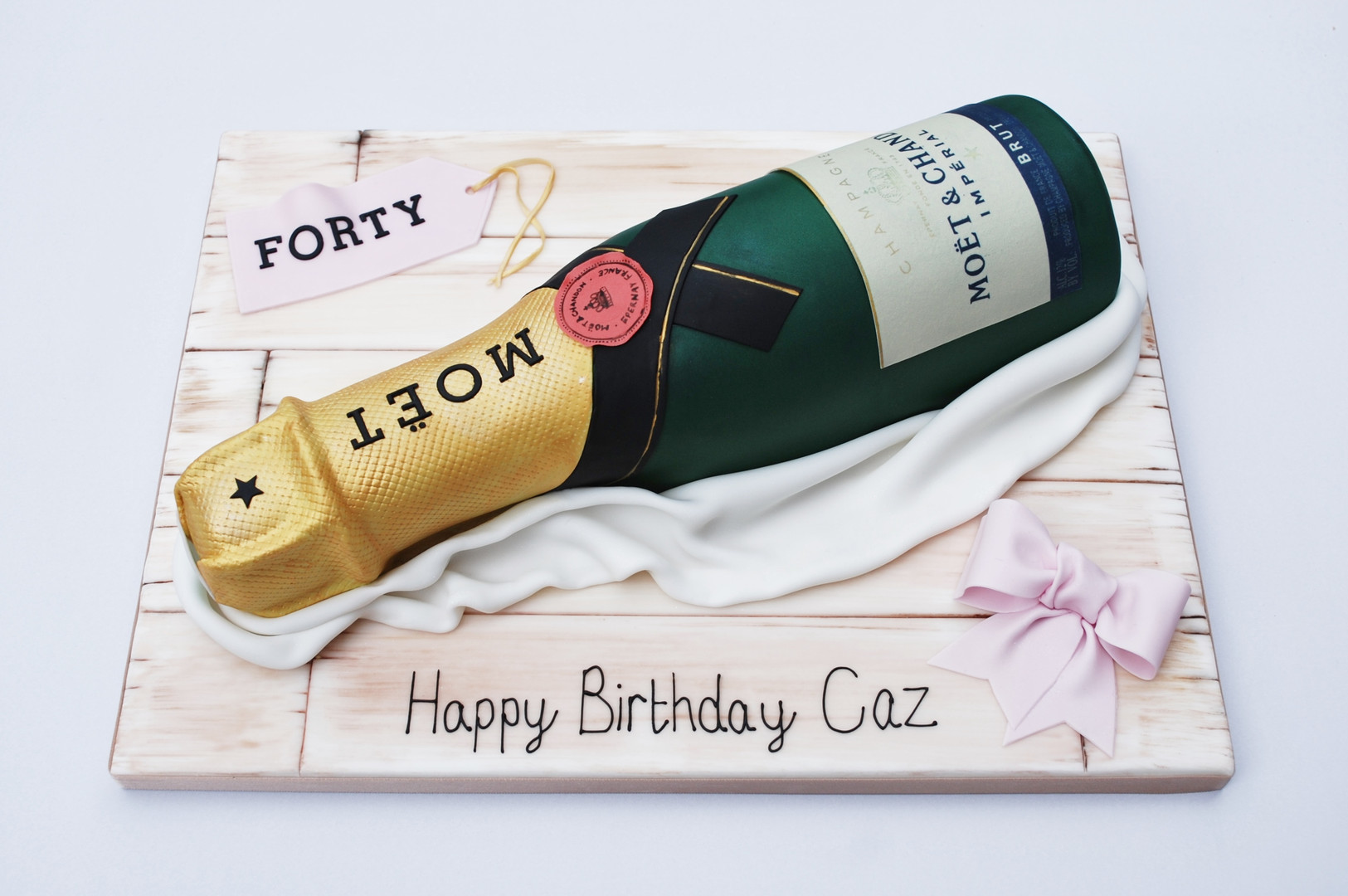 Moet Champagne Bottle Cake