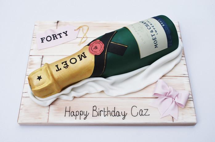 Moet Champagne Bottle Cake