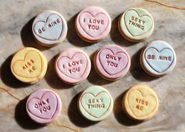 Large Love Heart Cookies