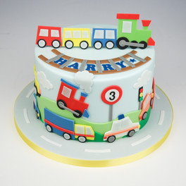 Car themed cake