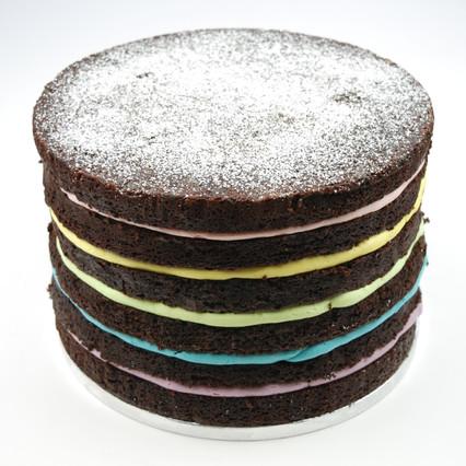Chocolate Mud Rainbow cake