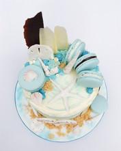Modern Beach Themed cake
