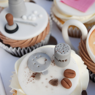 Coffee themed cupcakes