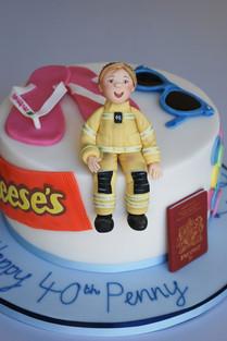 'Penny' Firefighter cake