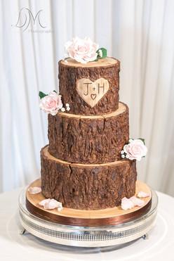 Stacked Log Wedding Cake