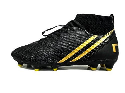 Chaussures de football black/gold avec chaussette