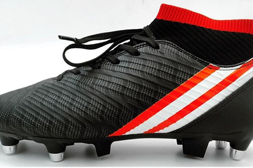 Chaussures de football black/red avec chaussette
