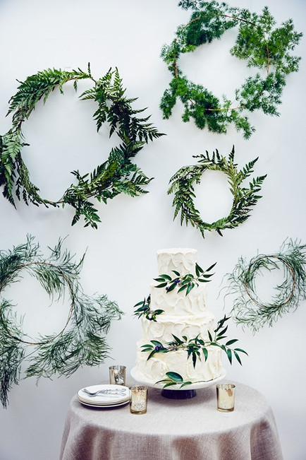 Brides magazine foliage craft shoot