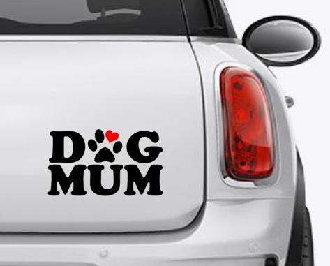 Dog Mum Car Decal / Sticker
