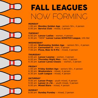 leagues Fall 2021
