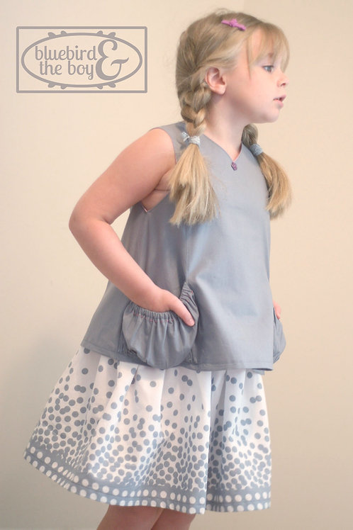 Bubble Pocket Top & Spin Skirt