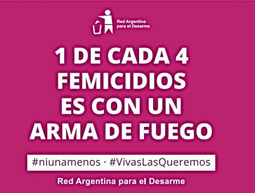 Adhesión de la Red Argentina para el Desarme al Paro Internacional de Mujeres