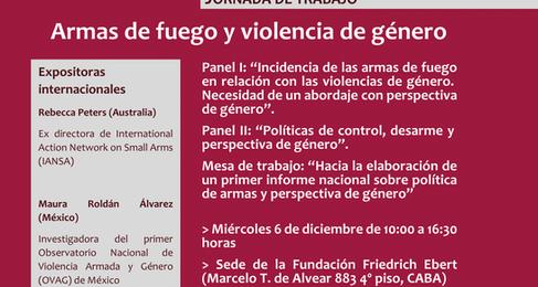 """ARMAS DE FUEGO Y VIOLENCIA DE GENERO. """"Hacia la elaboración de un primer informe nacional sobre polí"""