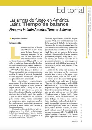 Las armas de fuego en América Latina: Tiempo de balance de Alejandra Otamendi - URVIO - Revista Latinoamericana de Seguridad Ciudadana - NOVIEMBRE 2011 - N 10