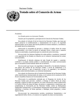 Tratado sobre el Comercio de Armas