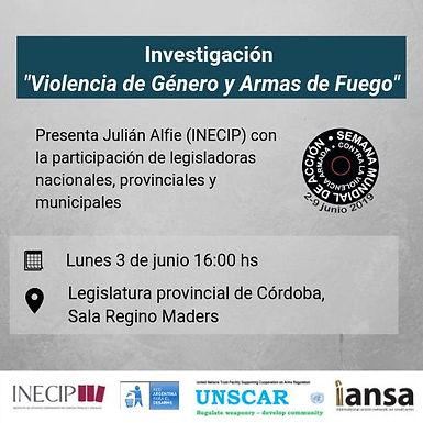 SEMANA INTERNACIONAL DEL DESARME ‼️En Argentina, 1 de cada 4 femicidios es cometido con armas de fue