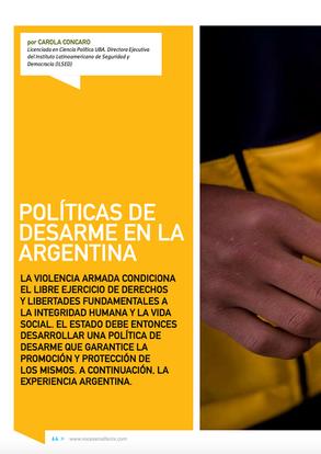 Políticas de desarme en la Argentina de Carola Concaro, Revista Voces en el Fenix, Perros de la Calle N 15, 2012