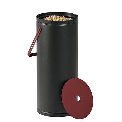 Rangement à granulés noir et bordeaux contenance 10 kg DIXNEUF