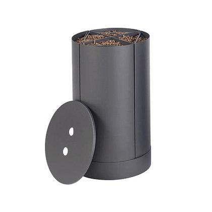 Stockeur à pellets quatre compartiments gris contenance 20 kg dixneuf