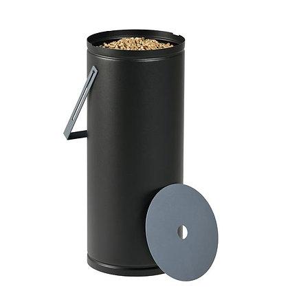 Rangement à granulés noir et gris contenance 10 kg DIXNEUF